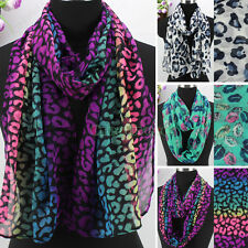 Fashion Women's Colorful Leopard Lips Print Ladies Long Shawl/Infinity Scarf New