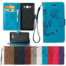 Wallet Flip PU Leather Case Stand Card Slots Protective Cover For Samsung Galaxy