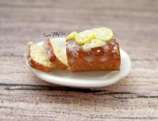 Miniature Lemon Cake - Lemon Drizzle Cake - Dolls House Miniature Food - Bakery