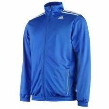 adidas 3 Stripe Entry Poly Tracksuit jacket Mens