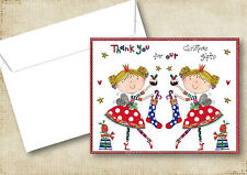 5-10 CHRISTMAS PRESENT THANK YOU GREETING CARDS FOR TWIN BOYS & GIRLS