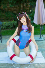 Overwatch OW Game D. Va Swimsuit Swimwear Cosplay Costume DVA bathing suit New