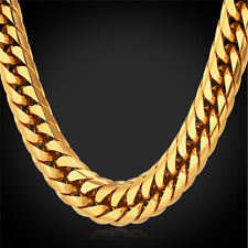 Hip Hop Big Chain Necklace Pendant 30 Iced Out Gold Size 36 Cuban Link Heavy New