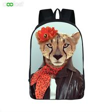 Animal Backpack Double Deck Shoulder Bag Unisex Middle School Students Book Bag