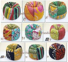 Cotton Kantha Bean bag , chair , Cotton Bohemian Bean Bag Kids Furniture Set
