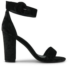 Wittner Ladies Shoes Black Fabric Heels
