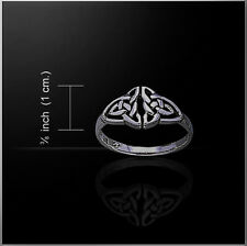 CELTIC INFINITY KNOTWORK / DOUBLE TRIQUETRA Ring Sterling Silver