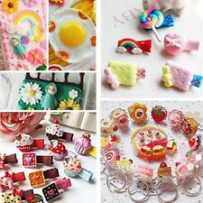 50x Many Style Resin Flower Sweets Flatback Appliques for DIY Phone Case Craft