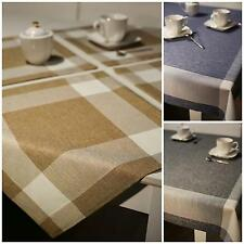 Table Cloth Table Runner Napkins Checked 1201A Beige Brown Red Purple Grey Blue
