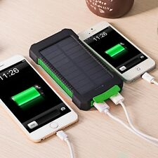 Dual USB 10000mAh LED Light Portable Solar Charger Ext Battery Power Bank Multi
