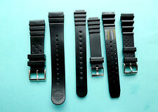 Black Divers Rubber Resin PU Watch Strap Band 14,18,20,24mm  UK Seller