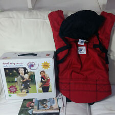 Ergo- nomic Baby Carrier Sport Red 3 Positions Cotton Hands Free