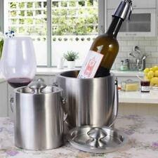 2L/3L Silver Stainless Steel Ice Punch Bucket Wine Beer Cooler Champagne Party