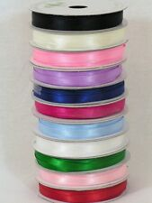 6mm Satin ribbon double sided choice of colours ribbon 10m roll new