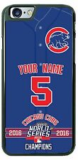 Chicago Cubs Champion 2016 Phone Case Cover for iPhone Samsung iPod LG Name /No