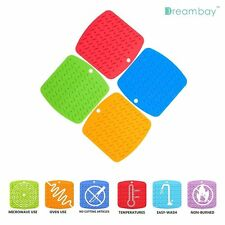 Kitchen Table Silicone Hot Pad Trivets Mat Pot Holder Handle Jar Opener Placemat