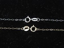 Solid 10K Yellow Gold / White Gold Fancy Cable Chain Necklace Real 10 Karat Gold