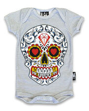 BABY ONESIE DAY OF THE DEAD SIX BUNNIE HALLOWEEN SHOWER GIFT MEXICAN SUGAR SKULL