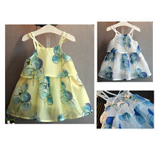 Baby Girl Kids Baby Flower Casual Party Dress Sleeveless Tutu Dress Outfit Cute