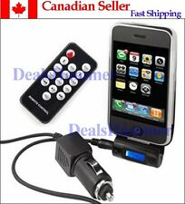 FM Transmitter Car Charger Remote Control/LCD for iPhone Black Portable - CANADA