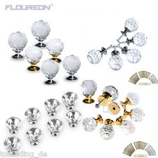 Clear Crystal Glass Door Knobs Handles Diamond Drawer Cabinet Furniture Kitchen