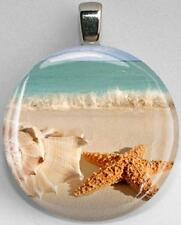 Handmade Interchangeable Magnetic Beach Conch shell Seastar #20 Pendant Necklace
