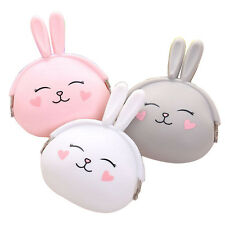 Lovely Girl Sweet Rabbit Pattern Coin Bag Purse Wallet Candy Color Handbag Pouch