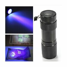 Blacklight Detection 9 LED UV Ultra Violet Mini Flashlight Torch Light Lamp