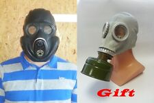 Soviet Army Gas Mask PBF EO-19 with filter  BLACK with gift  GP5 filter VINTAGE