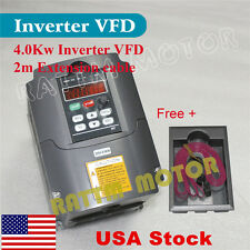 【US Stock】 4KW 18A 220V 5HP Inverter VFD Variable Frequency Drive for CNC Router