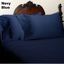 OFFER 1000-1200 TC HOTEL BEDDING ITEM EGYPTIAN COTTON ALL-SIZE NAVY BLUE STRIPED