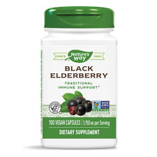 Elderberry Pills Fruit Powder Extract Flower Plant Capsules Cold Flu Supplement