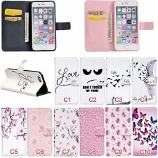 Magnetic Flip Stand Card Slot Leather+TPU Wallet Case Cover For Apple iPhone