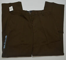 Dockers Signature Khaki D2 Straight-Fit Flat-Front Brown Pants NWT
