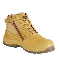 New Hard Yakka Wheat Work Boot Lace Up Boot With PU Toe Bump And Water Resistant