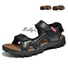 Mens Outdoor Sport Leather Sandals Opend Toe Antiskid Casual Shoes SIZE 10.5