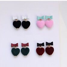 Color Stud Earrings Earring` 1Pair Candy Earrings Pur Ball Bow tie Love Heart