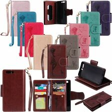 Flip Wallet Cards Cash Leather With Strap Stand Case Cover For Huawei Ascend P10