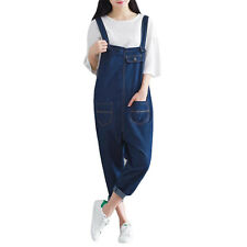 2017 New Spring Autumn Women Korean Casual Denim Overalls Loose Jeans Jumpsuits