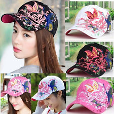 Lady Summer Baseball Cap Women Flowers Butterfly Embroidered Golf Hat Adjustable