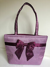 "NaRaYa ""Ribbon bag"" 365 Large Shoulder Bag (Black,Purple) Elegant"