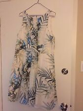 NWT Ted Baker Ameda Dress Pleat Floral Fit and Flare Natural $349 – US 10, 12