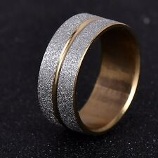 NEW Silver Gold Stainless Steel Ring Band Wrap Women Men Jewelry Fashion Gift