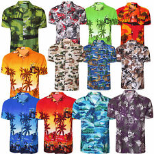 Mens Hawaiian Shirt Floral Flower Print Surf Beach Stag Party Holiday OutFit