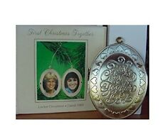 Hallmark First Christmas Together Locket Ornament Dated 1984 QX4364