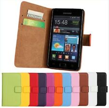 Genuine Leather Wallet Stand Case Cover Protector F Samsung Galaxy S2 i9100 S II