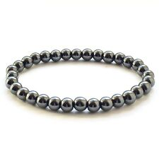 Hematite Bracelet Stretch Fit Choose Size 6mm or 8mm Made In UK