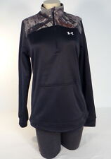 Under Armour Coldgear Black & Mossy Oak Camo Caliber 1/2 Zip Pullover Women NWT