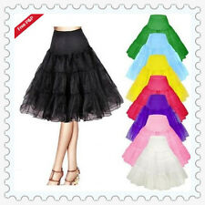 50s 26'' Tea Length Swing Skirt Prom Silps Crinoline Bridal Petticoat Underskirt