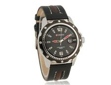 CURREN Round Dial Analog Watch with PU Leather Strap & Data Display Casual Date